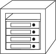 Möbeleinsatz-Tresor Sistec EM 3 - EN 1143-1 Klasse 1